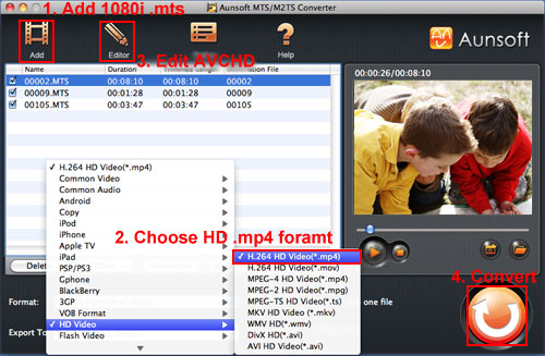 SD60 MTS to MP4 Mac YouTube